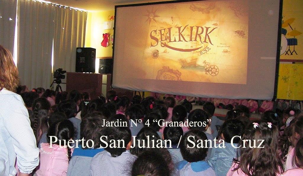 cine móvil en Pto. San Julian jardin n°4.