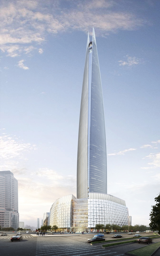 Rendering of the Lotte World Tower