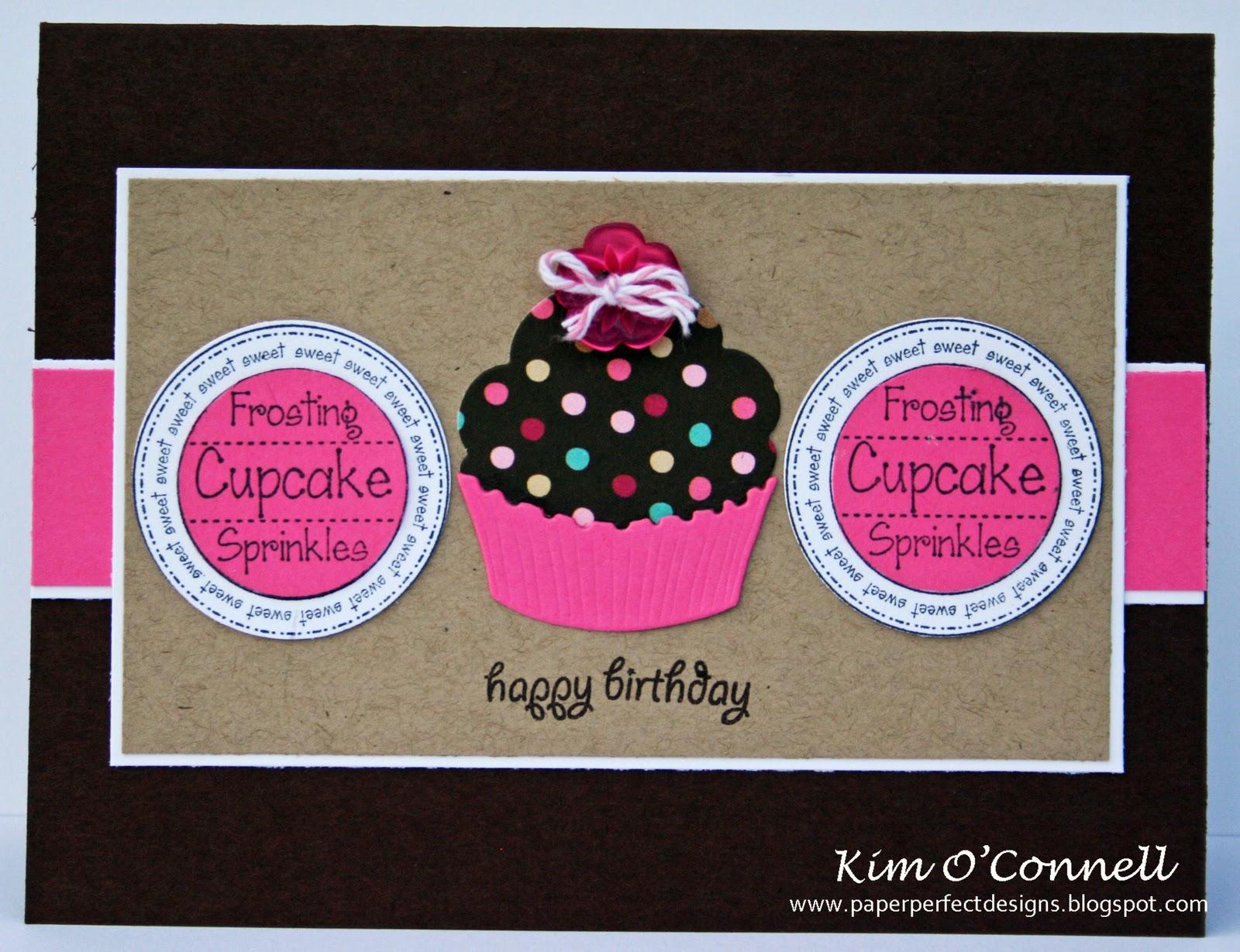 Creative Smiles FMS16 Happy Birthday Cupcake