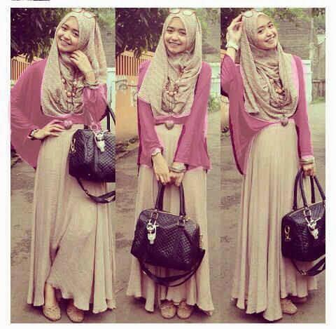 baju muslim cantik bahan pashmina