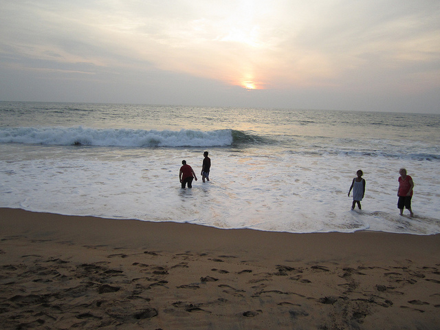 Beach location of Kovalam