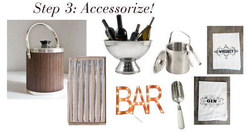 bar, decor, party, entertaining, blank slate, lori tauraso
