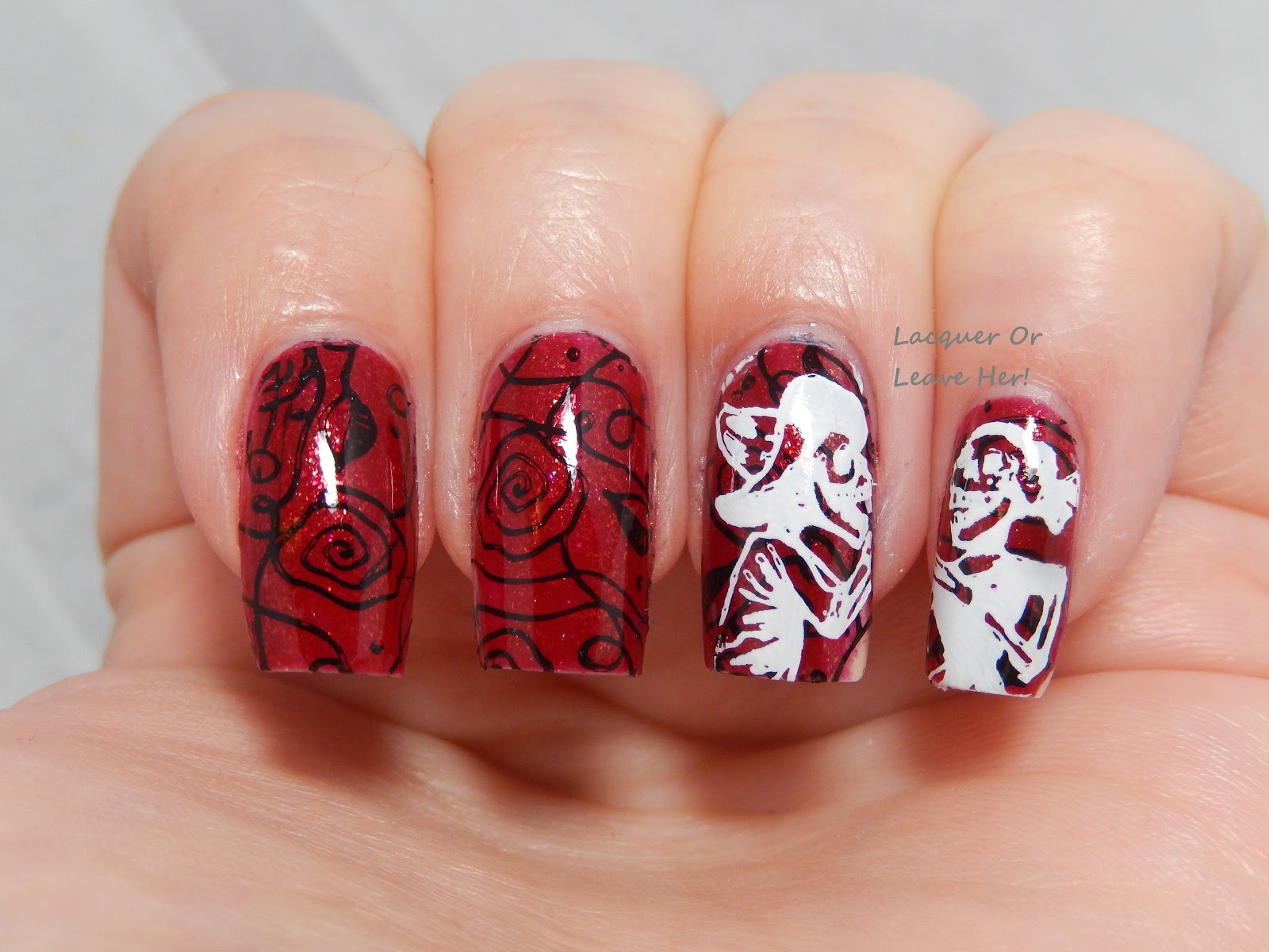 Lacquer or Leave Her!: Before & After: Day Of The Dead (Bunny Nails ...