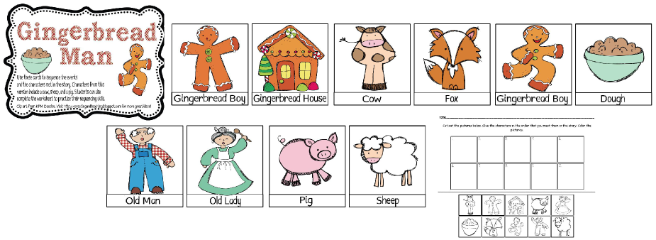 Collection of Gingerbread Man Sequencing Worksheet - Bloggakuten
