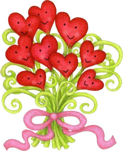 Flores con forma de corazon para imprimir