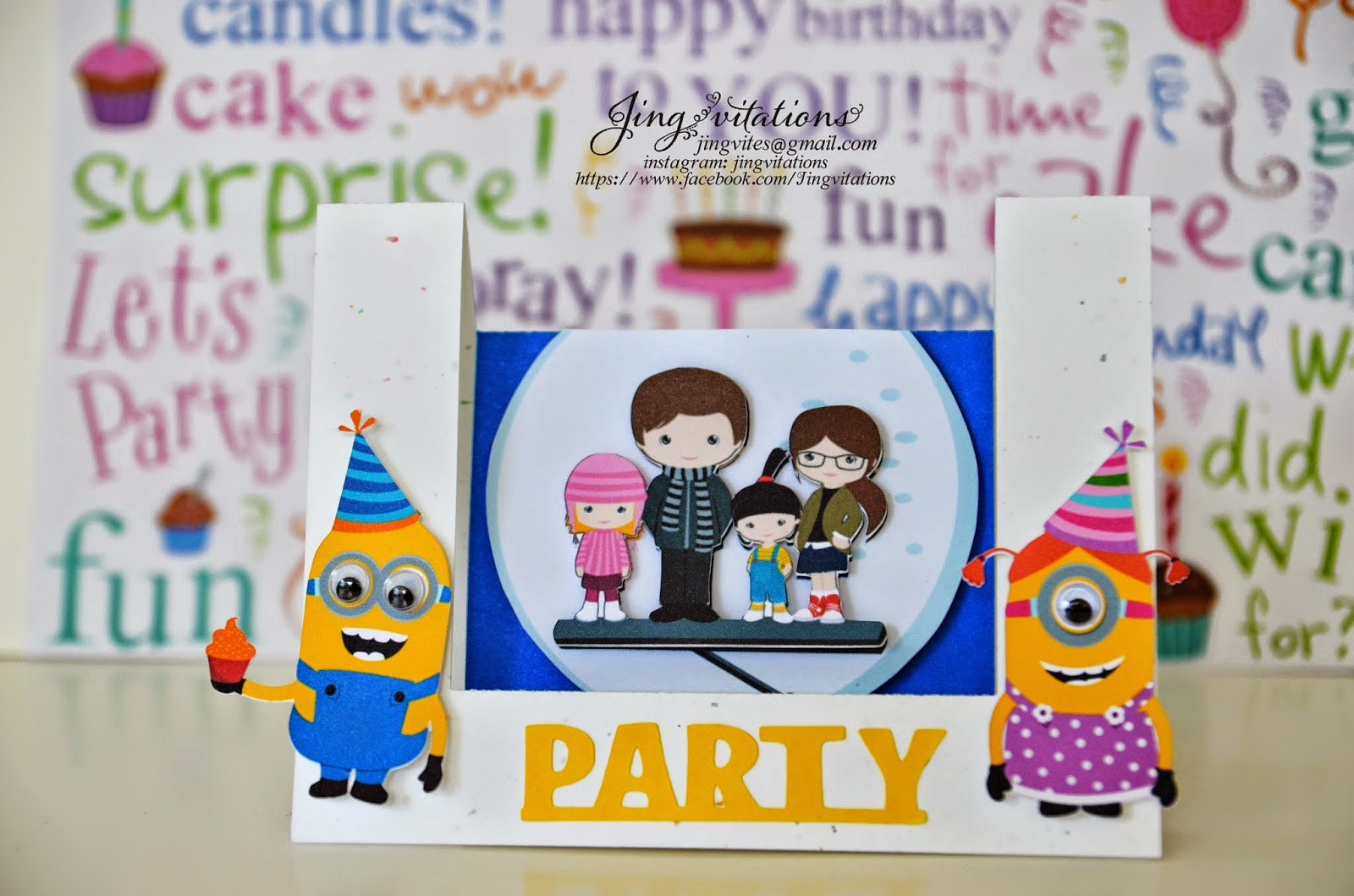 handmade minion invitations
