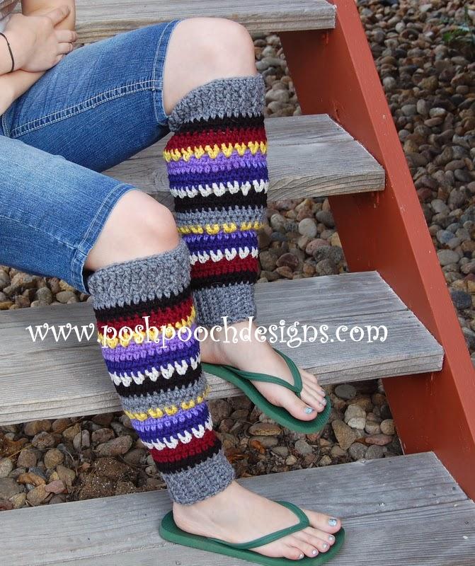 Free Crochet Pattern For Dog Leg Warmers : Posh Pooch Designs Dog Clothes: Yarn Stash Busting Leg ...