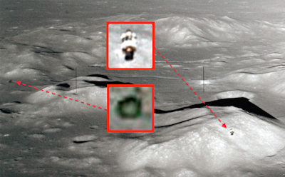 Huge UFO Stalks Apollo 17 Module Over Moons Surface, UFO Sightings
