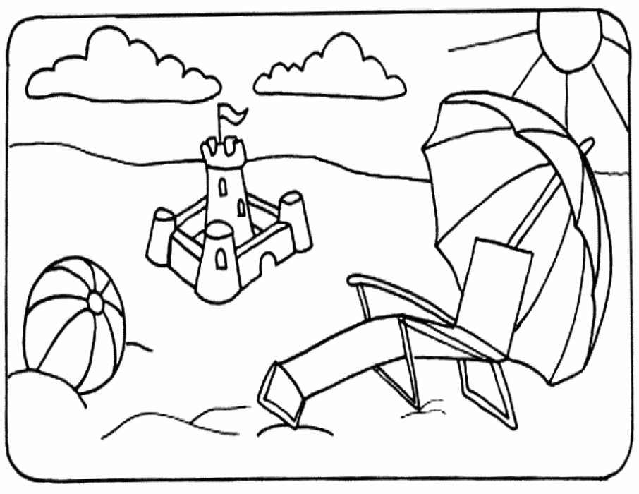 free online beach coloring pages - photo#20