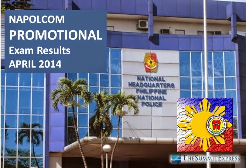 NAPOLCOM promotional exam results april 2014