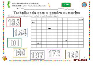 atividades de matematica 3 ano