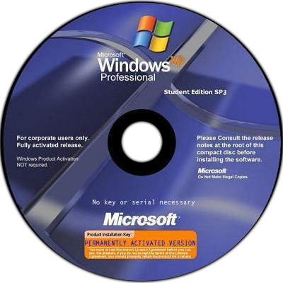 Windows XP SP3 Corporate Student Edition Free Download