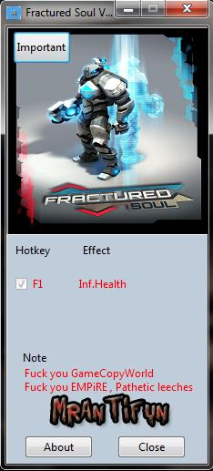 Fractured Soul V1.00 Trainer +1 MrAntiFun