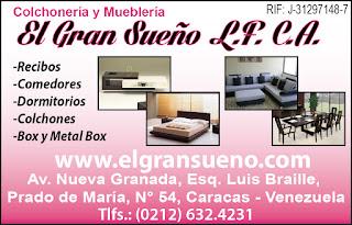 COLCHONERIA Y MUEBLERIA EL GRAN SUE�O L.F. en Paginas Amarillas tu guia Comercial
