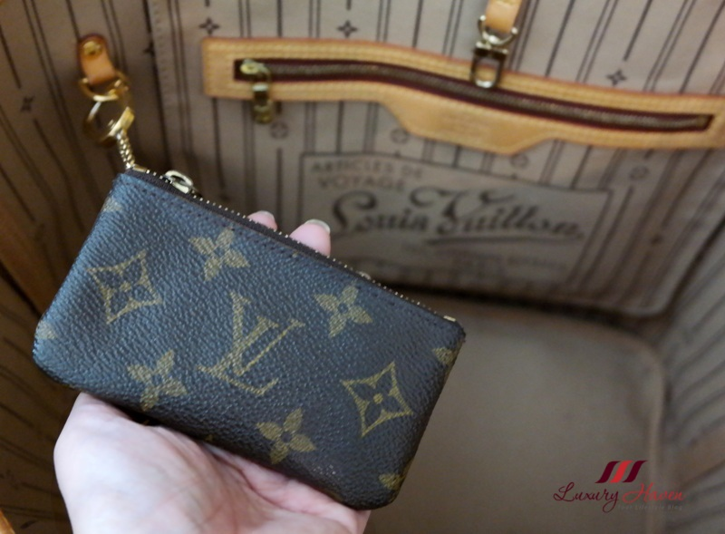 louis vuitton monogram neverfull lv key pouch