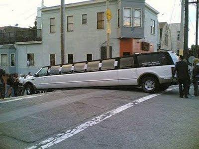 лимузин застрял