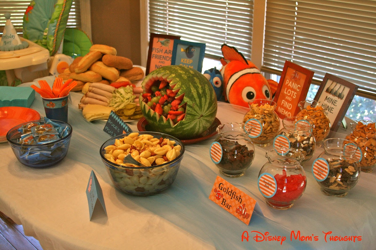 Finding Nemo First Birthday Party Food | A Disney Mom's Thoughts