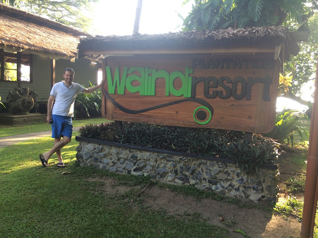 Outside Walindi Plantation Resort in Papua New Guinea
