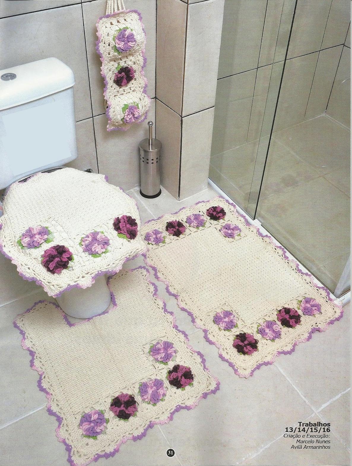 Imagens de #814A63 REGINA RECEITAS DE CROCHE E AFINS: jogos de banheiros lindos. 1186x1573 px 3648 Banheiros Simples E Lindos