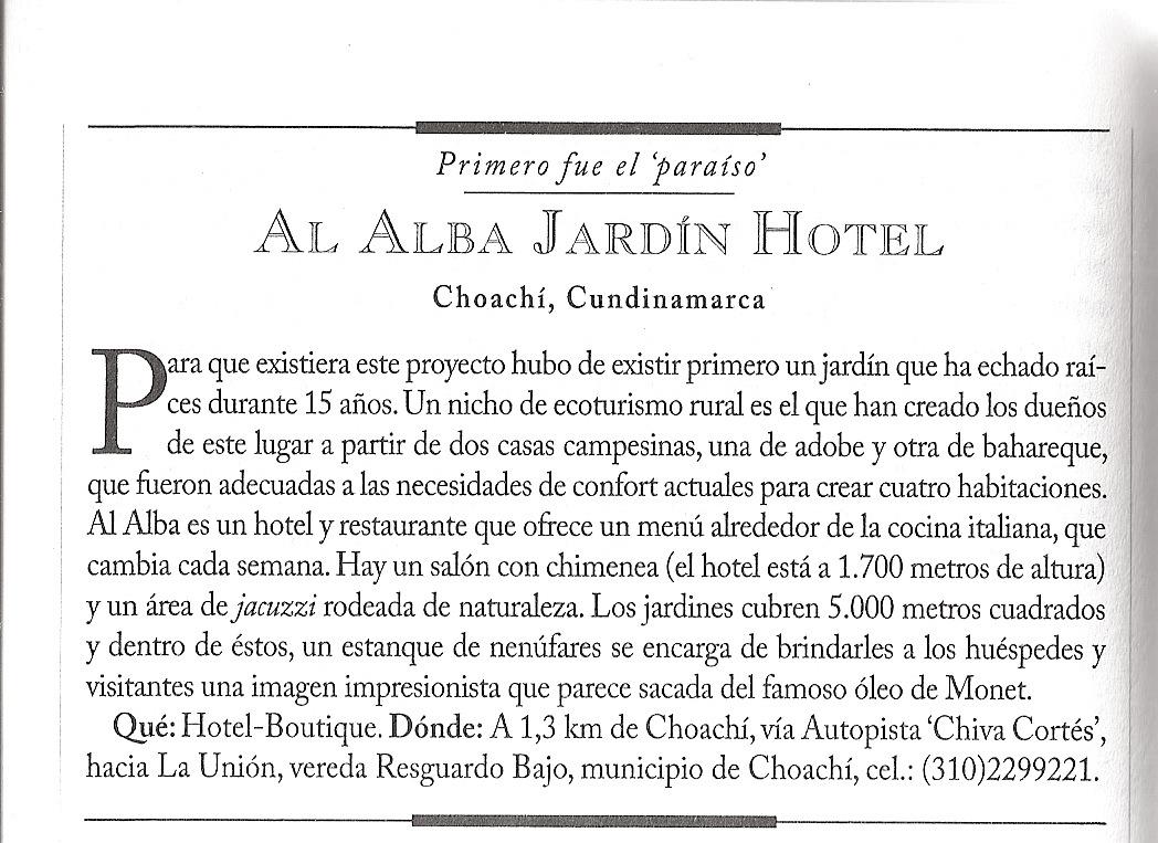 Al alba jardin hotel prensa for Al alba jardin hotel
