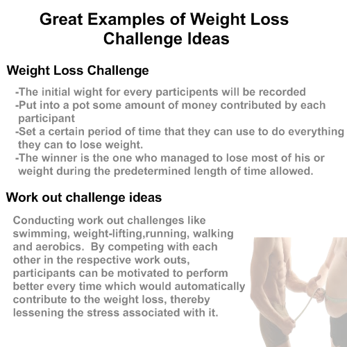 weight loss competition ideas - Great Weight Loss Challenges