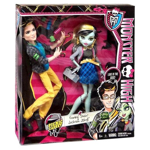 JUGUETES - MONSTER HIGH Picnic Casket  Pack Frankie Stein & Jackson Jekyll | Muñecas  Producto oficial 2014 | Mattel BHM97 | A partir de 6 años