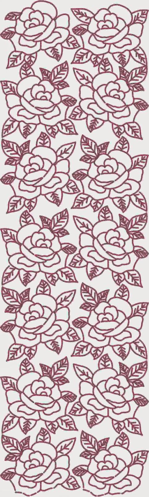 Red borduurwerk patroon