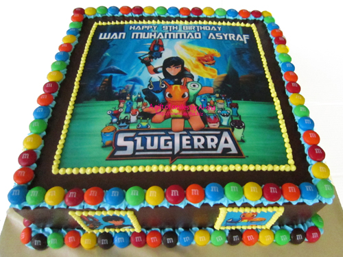 Birthday Cake Edible Image Slugterra