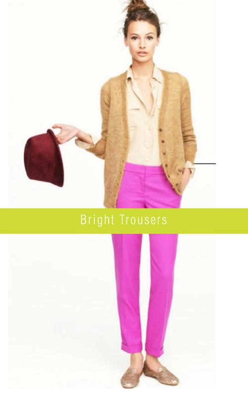 Spring Trends - Bright Trousers | via colourfulcarla.com