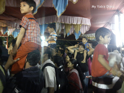 People enjoying the Ganpati Visarjan in Mumbai