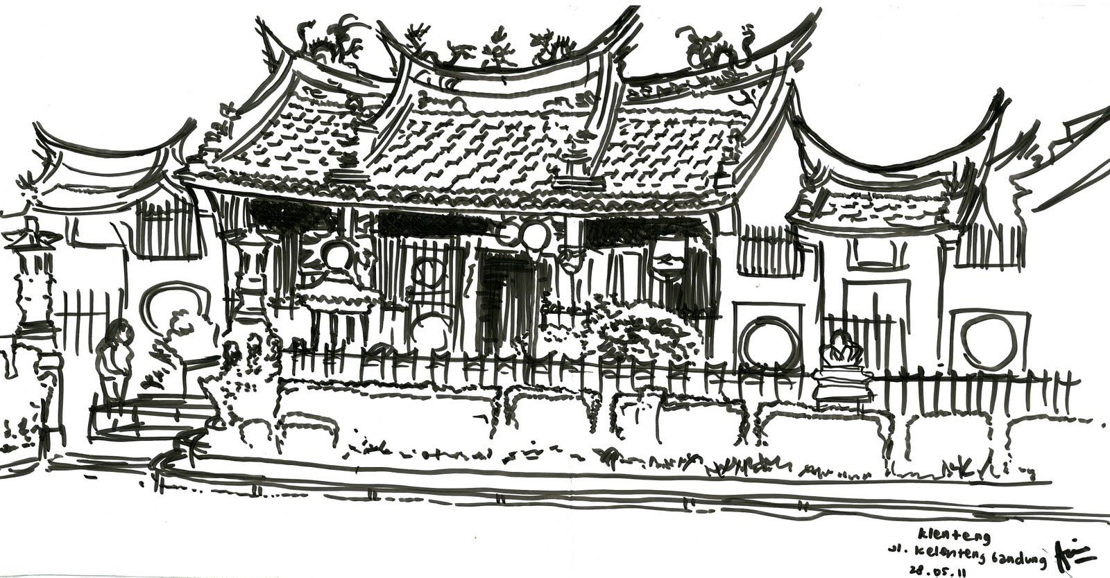 Indonesias Sketchers Bandung Klenteng Satya Budhi