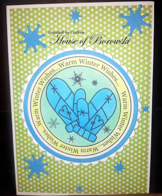Diecut Divas, Bugaboo Stamps Winter Circle Sentiments Warm Wishes