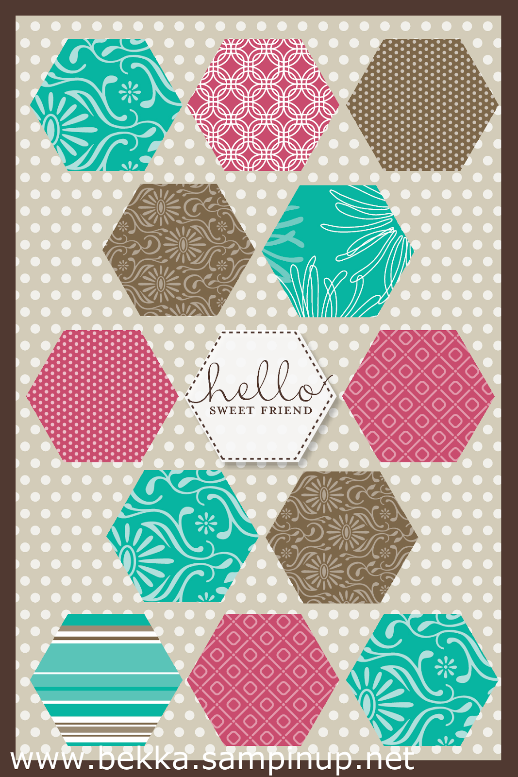Hexagon Fun with My Digital Studio - check out this UK Stampin' Up! Independent Demo Blog every Monday for Digital Ideas