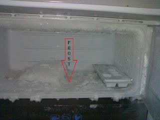 Frost Pada Kulkas Satu Pintu