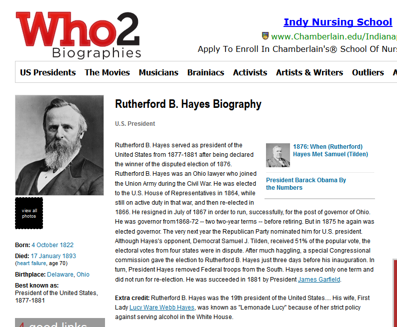 Famous people for biographies