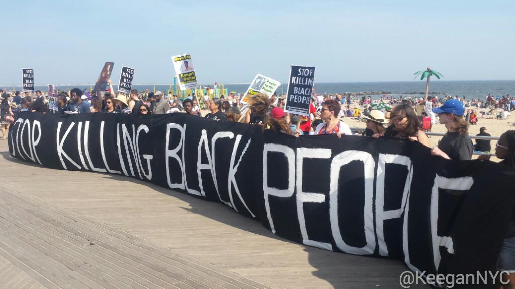 black people on beach
