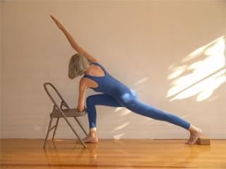 Vivianayoga iyengar yoga for Sillas plegables para yoga
