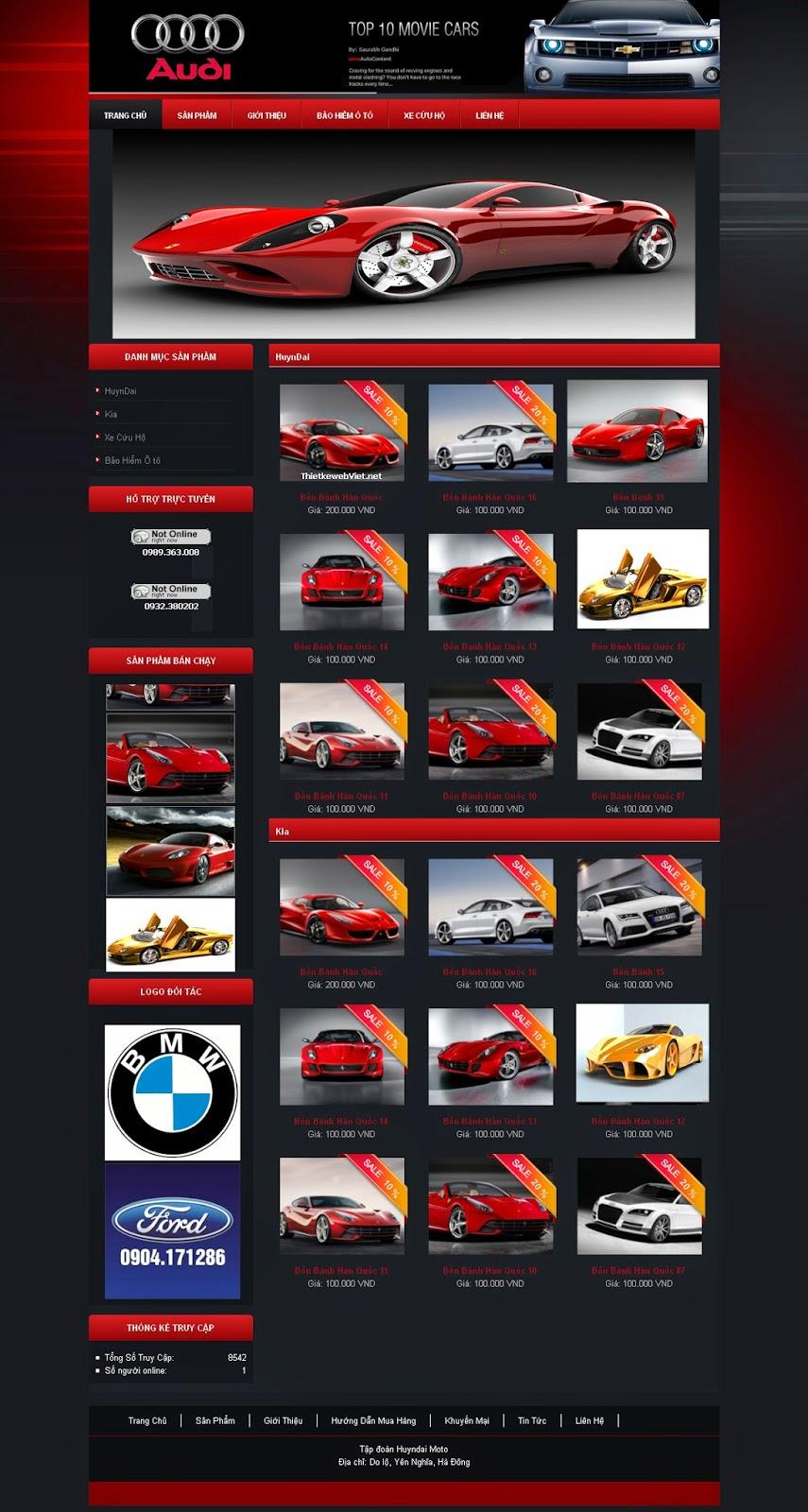 website bán ô tô dạng 1