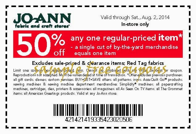 3. Maximize your holiday savings by shopping in-store with multiple JoAnn printable coupons. You can combine a single-item discount coupon with a percent-off the whole purchase coupon in one trip. If you shop online, a single JoAnn promo code can be used. 4.