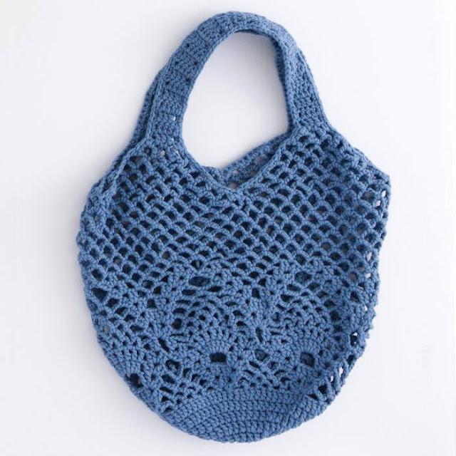 Bolso Azul a Crochet