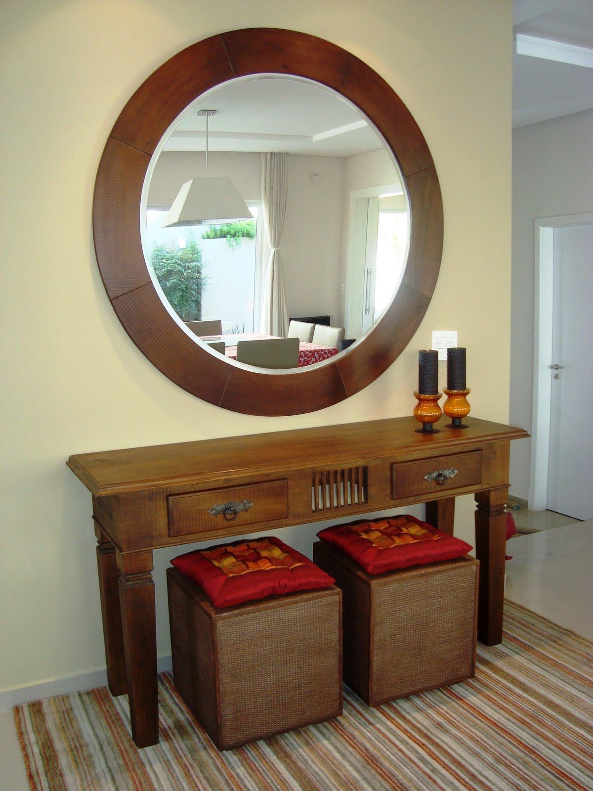 Mulher Catarina: Decoração: Espelho e aparador #693C23 1200x1600
