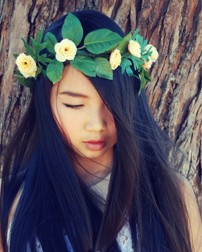 floral crown, floral garland, DIY floral crown, leaf wreath, etsy