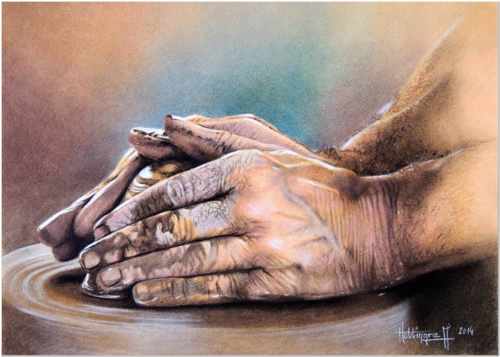 De moi vous les mains du potier - Dessin de mains ...