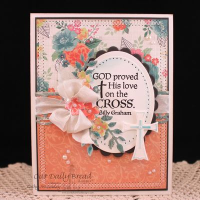 Stamps - Our Daily Bread Designs The Cross, Chalkboard Vine Background, ODBD Custom Fancy Foliage Dies, ODBD Custom Ornamental Crosses Dies, ODBD Custom Beautiful Borders Dies