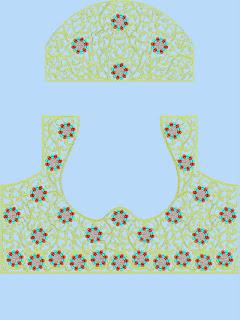 kolossale Neck versier met rug pleister