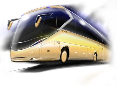 Design bus Raja by Ririe (Senior Designer Karoseri Laksana) Front