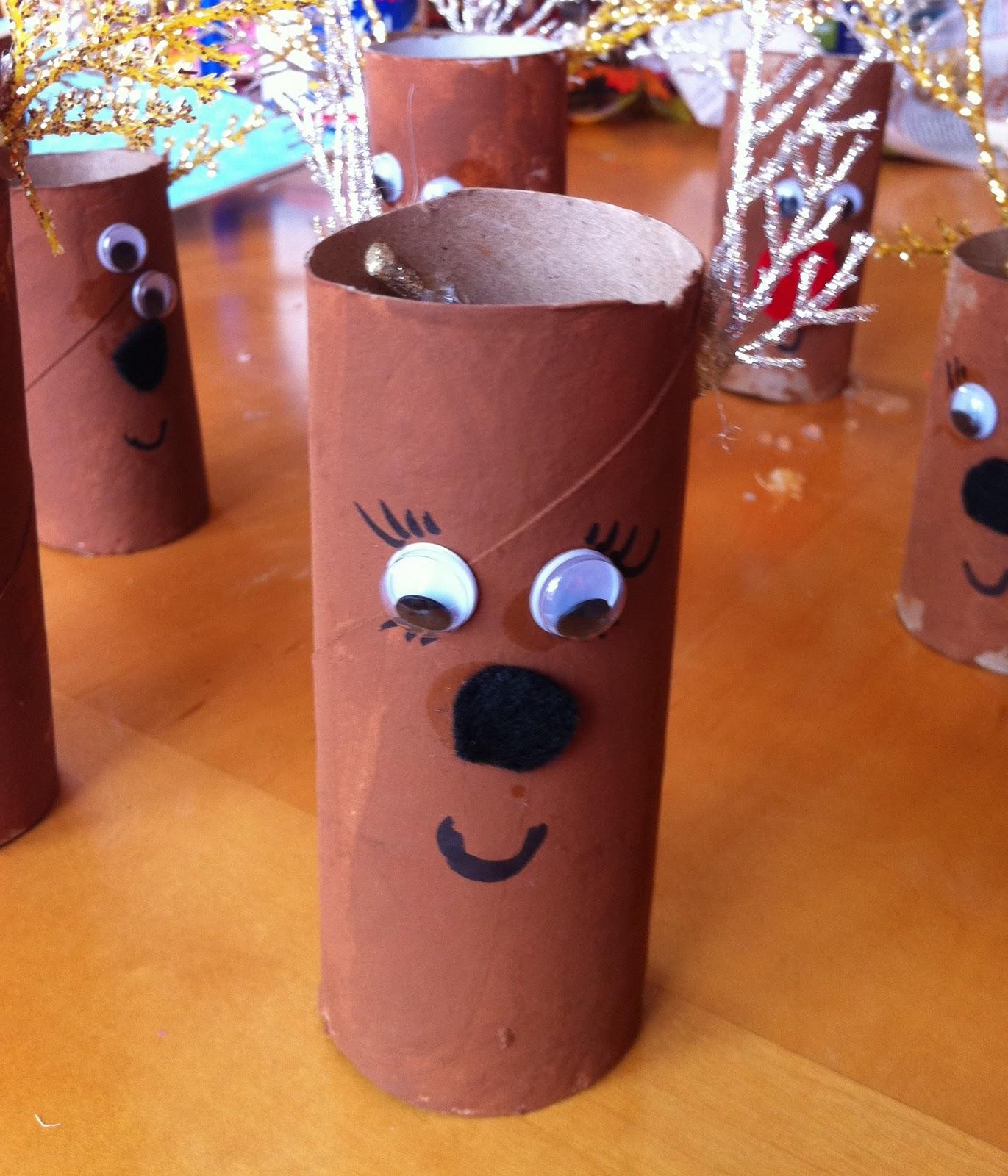 Kinda like a turtle toilet paper roll reindeer craft for little kids