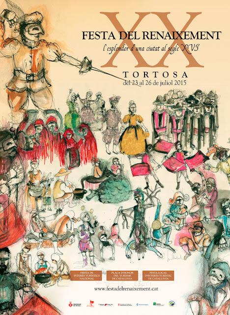 Cartel de la XX Fiesta del Renacimiento de Tortosa en su edición del año 2015