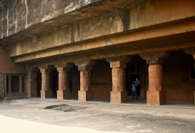 Buddhist monastery at Ajanta Caves in Aurangabad, India