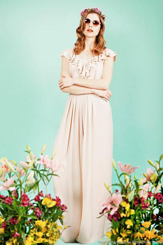 Moda vestidos primavera verano 2014 Paris by Flor Monis